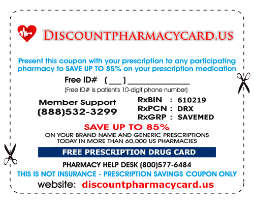 Example Discount Pharmacy Card